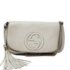 100% Auth Gucci Soho Small Crossbody & Clutch Bag
